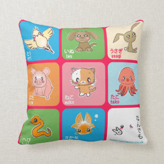 Learn Japanese Animals doubutsu pillow