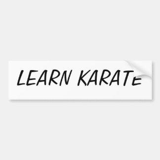 LEARN KARATE BUMPER STICKER