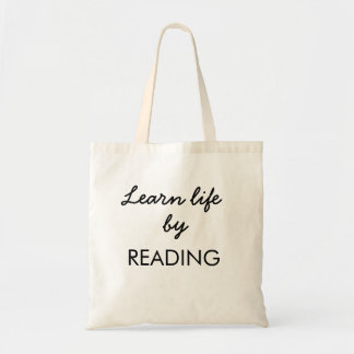 Learn life by reading tote bag