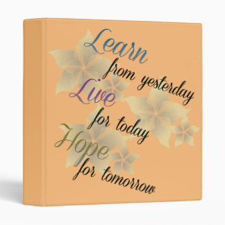 Learn Live Hope 3 Ring Binder