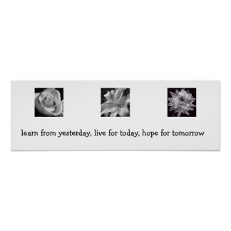 Learn Live Hope Posters