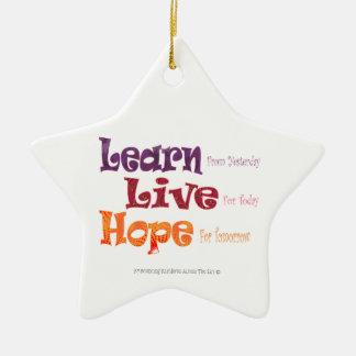 Learn Live Hope Star Ornament