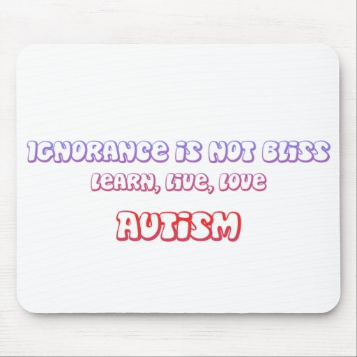 Learn, Live, Love Autism Mouse Pads