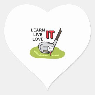 LEARN LIVE LOVE IT HEART STICKER