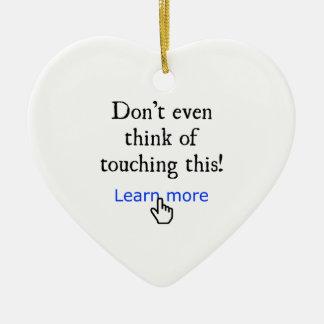 Learn more ornament