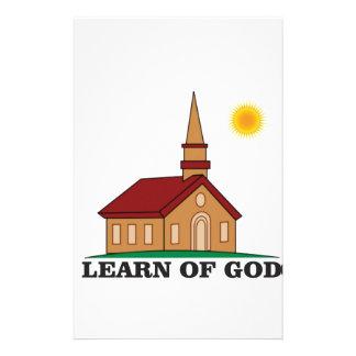 learn of god church stationery