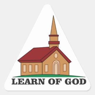 learn of god church triangle sticker