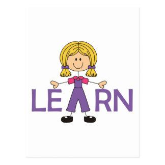 LEARN POSTCARD