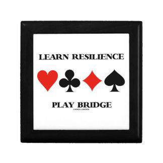 Learn Resilience Play Bridge (Four Card Suits) Keepsake Box