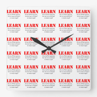 Learn Square Wall Clock