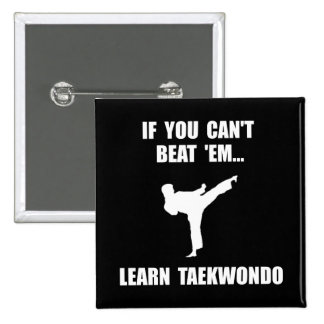 Learn Taekwondo Pinback Button