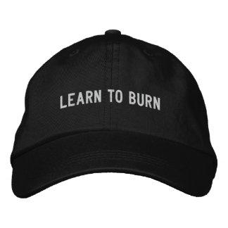 learn to burn baseball cap