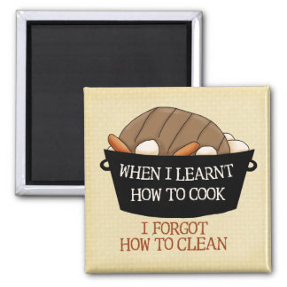 Learn to Cook Refrigerator Magnets