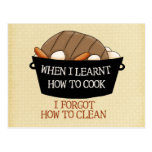 Learn to Cook Postcard
