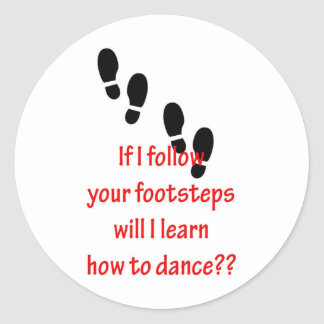 Learn to Dance Classic Round Sticker