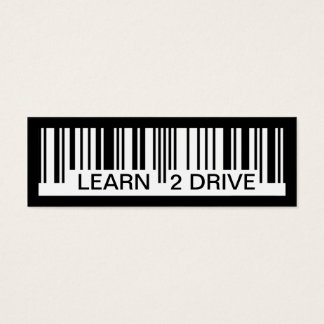 learn to drive barcode mini business card