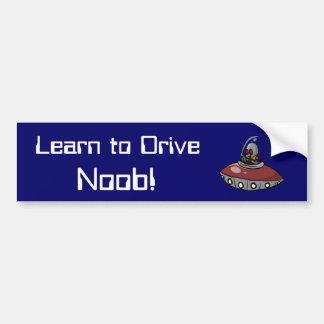 Learn to Drive Noob! Car Bumper Sticker