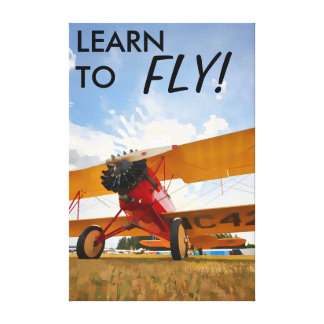 Learn to Fly! Canvas Print