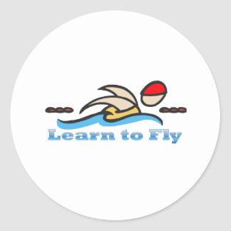 Learn to Fly Classic Round Sticker