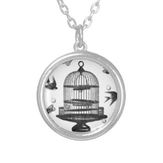 Learn To Fly Round Pendant Necklace