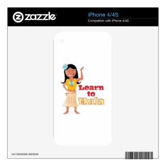 Learn To Hula Decal For The iPhone 4