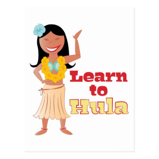 Learn To Hula Postcard