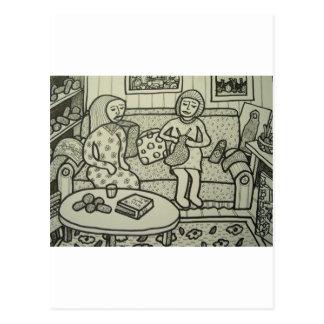Learn to Knit bt Piliero Postcard