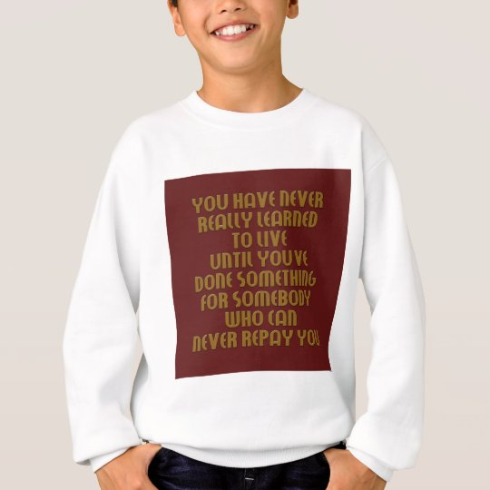 learn to live collection sweatshirt