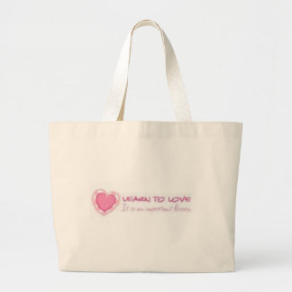 Learn to love <3 canvas bags