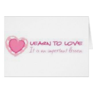 Learn to love <3 card