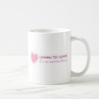 Learn to love <3 coffee mug