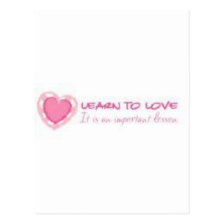 Learn to love <3 postcard