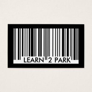 Status update business cards templates zazzle learn to park barcode business card colourmoves