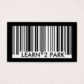 learn to park barcode business card