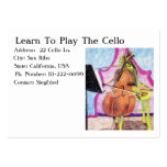 Learn To Play The Cello Business Card Template