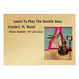 Learn To Play The Double Bass Large Business Cards (Pack Of 100)