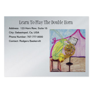 Learn To Play The Double Horn Large Business Cards (Pack Of 100)