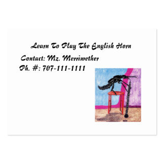Learn To Play The English Horn Large Business Cards (Pack Of 100)