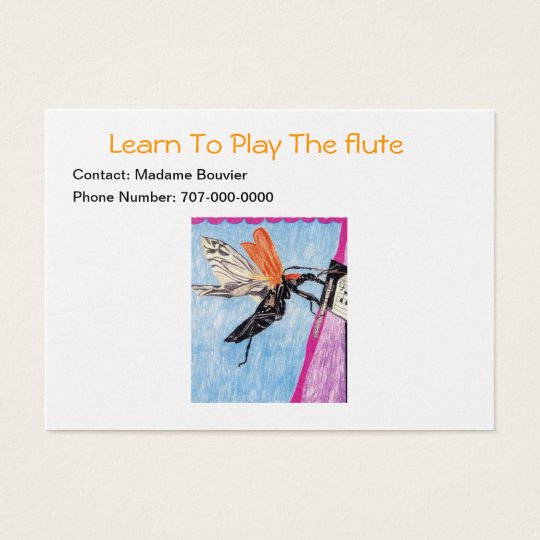 Learn To Play The Flute Business Card