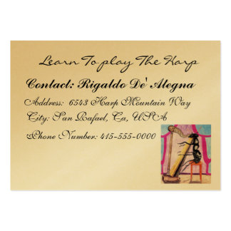 Learn To Play The Harp Large Business Card