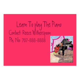 Learn To Play The Piano Large Business Card