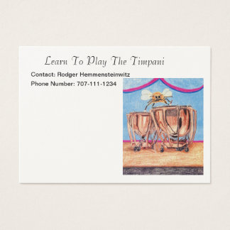 Learn To Play The Timpani Or Kettledrums Business Card