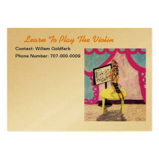 Learn To Play The Violin Large Business Card