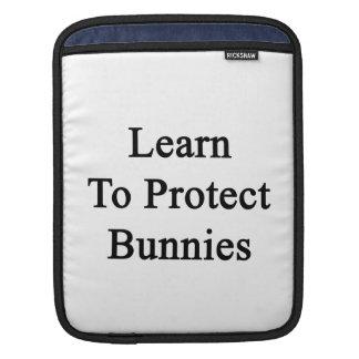 Learn To Protect Bunnies iPad Sleeves