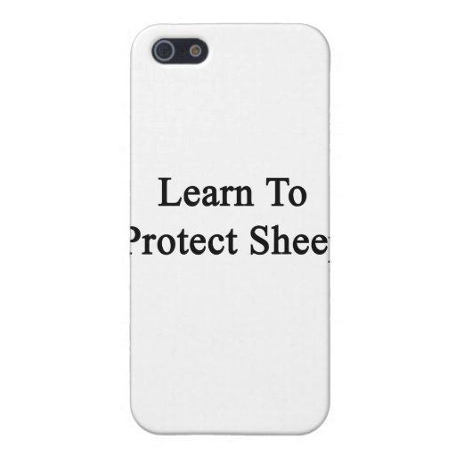 Learn To Protect Sheep Case For iPhone 5