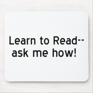 Learn to Read Mouse Pad