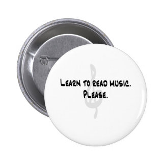 Learn to Read Music Pinback Button