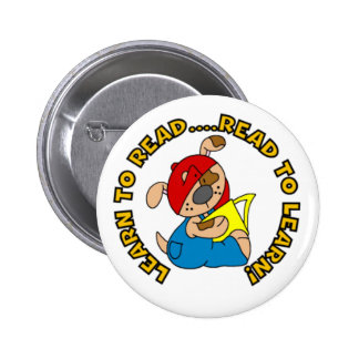 Learn to Read, Read to Learn Pinback Buttons
