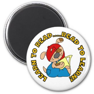 Learn to Read, Read to Learn magnet