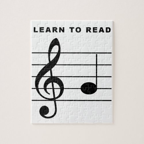 Learn To Read _ Treble Clef Jigsaw Puzzle